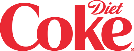 A Diet Coke logo.