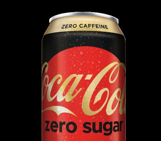 A can of Coca-Cola Zero Sugar Zero Caffeine.